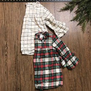 Carter's Girls Stripe And Plaid Shirts
